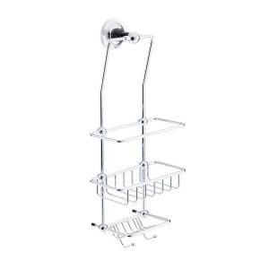 St James Porcelain Stem Wall Mounted Wire Shower Tidy (black) - SJ620-PSBK